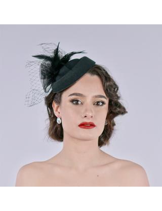 Chapeau bibi - Roses noires...