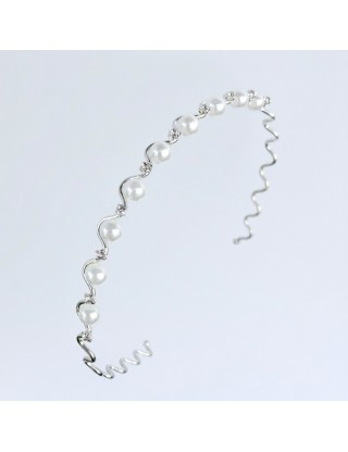 Diadème serre-tête perles...