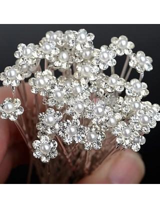 Pic-chignon à fleur & perle