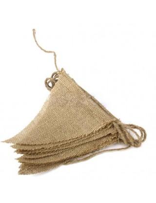 Banderole de fanions en jute