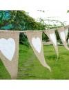 Banderole de fanions jute & coeur
